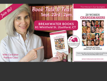 20 Women Changemakers: Taking Action Around the World - Book Launch Event at Breakwater Books, on September 23rd at 2PM