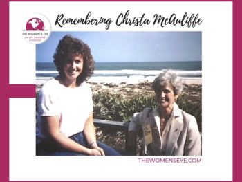 Christa McAuliffe with her mother Grace Corrigan who remembered Christa who lost her life in the Challenger Shuttle explosion which killed the seven-member crew | Interview on The Women's Eye | Photo used by permission by Renee Sotile