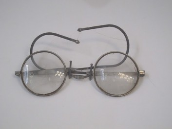 Dominique's Photo on trip to India of Gandhi's glasses