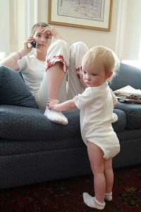 Ann Murray Paige with daughter Ellie/ March, 2004