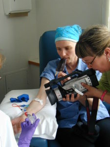 Ann getting chemo during doc