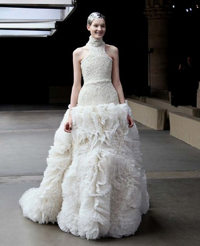 Alexander McQueen wedding dress--Telegraph