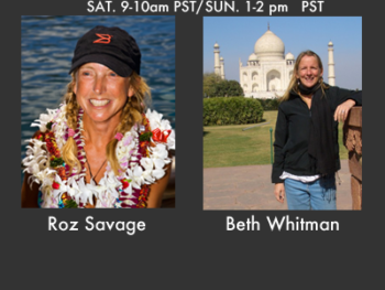 Coming Up on TWE Radio: Mar. 3,4 Show with guests Roz Savage and Beth Whitman