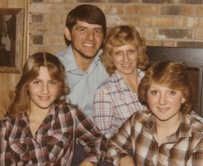 Brenda Warner, Mom Jenny Jo, Dad Larry and Sister Kim 1981