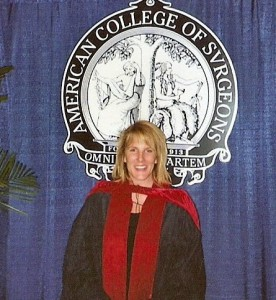 Dr. Kathy Magliato, top cardio surgeon, at her induction into the American College of Surgeons
