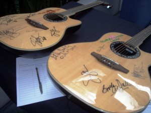 Auction items at Adopt the Arts launch, LA 3/18/12