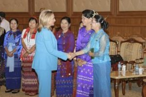 Hillary Clinton in Burma/ State Dept Photo by William Ing, More Mag