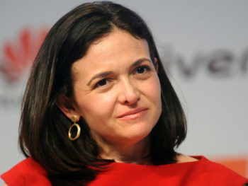 Sheryl Sandberg speaking at Harvard Business School