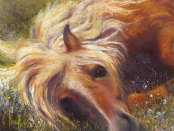 "Kim Novak painting--""Horse Heaven""--from San Fran exhibit"