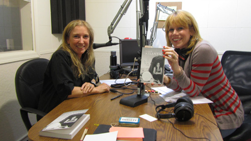 Roz Savage, world record ocean rower in the studio with TWE Radio Host, Stacey Gualandi