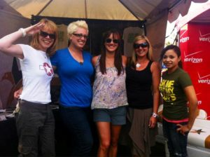 Voluntters at Boot Girls Campaign in Las Vegas