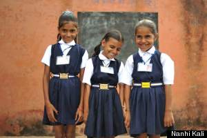 Girls attending Nanhi Kali | Photo from Nanhi Kali via Huffingtonpost.com