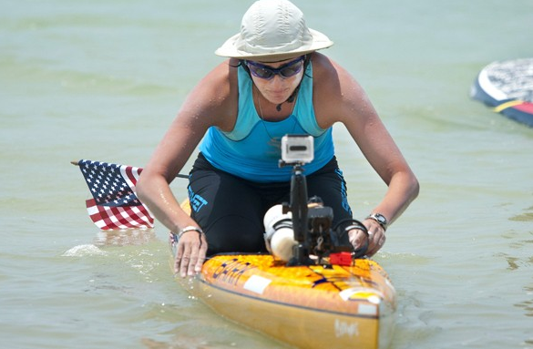 Cynthia Aguilar attempting to paddle from Cuba to Florida