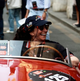 Sylvia Obert at the Mille Miglia