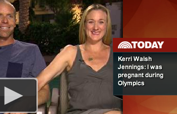 Gold Medalist Kery Walsh Jennings announces she was pregnant while winning the Gold Medal in Beach Volleyball