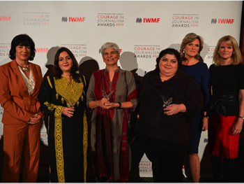 International Women's Media Foundation's 2012 Courage in Journalism Award Recipients and Hosts, Christiane Amanpour and Martha Raddatz