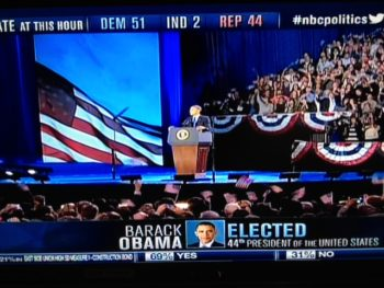 Barack Obama Making Acceptance Speech 11/6/12