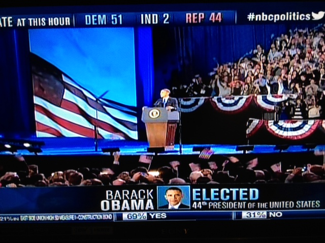 Barack Obama Making Acceptance Speech 11/6/12 | Photo:  NBC News