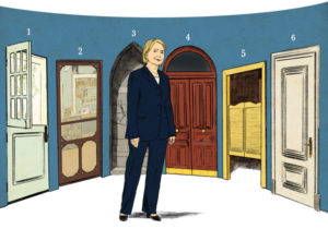 Hillary Clinton illustration in NY Times by Ruth  Gwily