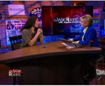 "Jennifer Granholm with filmmaker Mimi Chakarova filmmaker of ""Her War"" on The War Room"