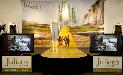 """Dorothy """"Wizard of Oz"""" dress at Julien's Auction/11-10-12"""