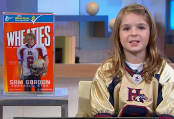 Sam Gordon, First Female Football Player on Wheaties Box