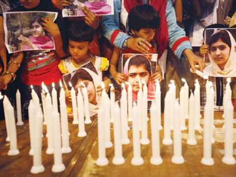 Marking Malala Day candle lighting ceremony to honor 15-year-old Malala Yousafzai
