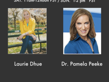 On TWE Radio: Laurie Dhue (L) and Dr. Pamela Peeke (R) for Dec. 22, 23 2012 Show