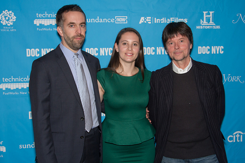 Documentarians that made Central Park Five--David McMahon, Sarah Burns, Ken Burns