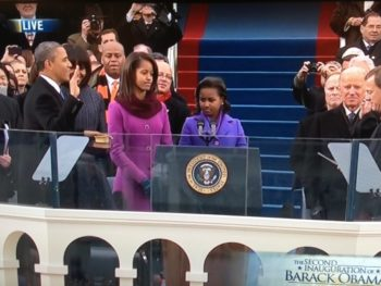 President Obama Swearing In Ceremony 2013 Inauguration | Courtesy NBC News