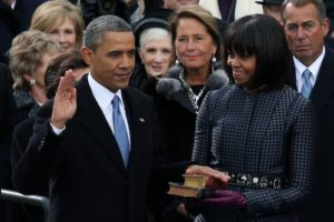 President and Mrs. Obama on Inauguration Day from Mrs. O Blog