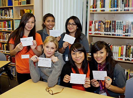 "Step Up teens with Julie Bowen from ""Modern Family"""