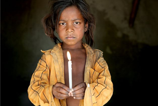 One of the young girls in India who had been forced into slavery   Photo: Lisa Kristine, Lisa Kristine Photography / SF via sfgate.com