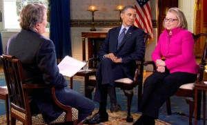 """'60 Minutes"""" Interview with President Obama and Hillary Clinton/Photo: CBS"""