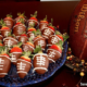 Football Chocolate-Covered Strawberries from Game Day Recipes on Martha Stewart Living