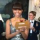 Michelle Obama at Oscars 2013 from Washington DC