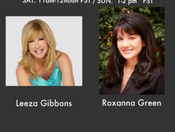 Leeza Gibbons, popular TV personality, and Roxanna Green, mother of Christina, the youngest victim of Tucson shooting