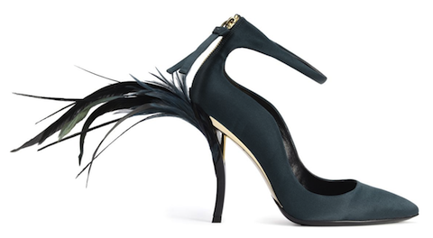 Roger Vivier (Bruno Frisoni) Eyelash Heel pumps, fall 2012-2013 Rendez-Vous (Limited Edition Collection) | Photo: courtesy Roger Vivier/Photo by Stephane Garrigues