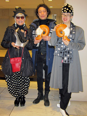 The Idiosyncratic Fashionistas with designer Masayn Kushino