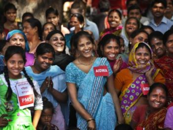 International Women's Day 2013--Indian Women watch play about sexual abuse and ways to stop it