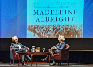Madeleine Albright in conversation with Elaine Petrocelli, Book Passage CEO, on her book, Prague Winter, at Dominican University