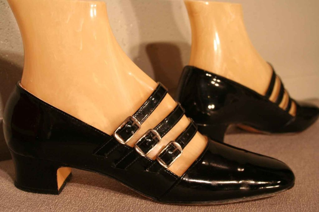 60s to 70s black patent leather shoes on ebay for $65
