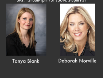 """Tanya Biank, author of """"Undaunted,"""" and Deborah Norville, TV personality and host of """"Inside Edition"""""""