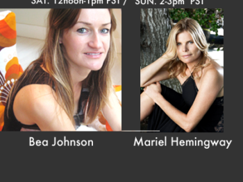 Bea johnson (L) and Mariel Hemingway (R): Guests on TWE Radio