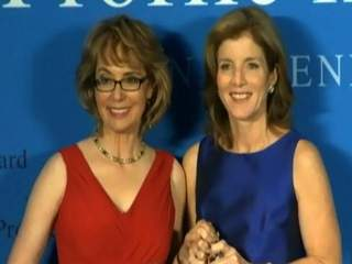 Gabrielle Giffords and Caroline Kennedy at Profile in Courage Award