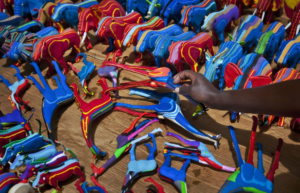 Toys made out of recycled sandals and flip-flops in Kenya