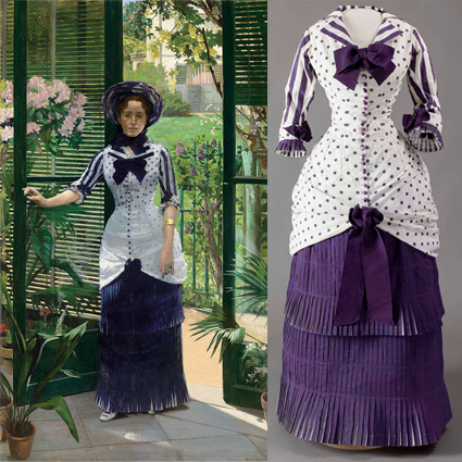 Albert Bartholomé's In the Conservatory, 1881, and Madame Bartholomé's Summer Dress in the MET Exhibit