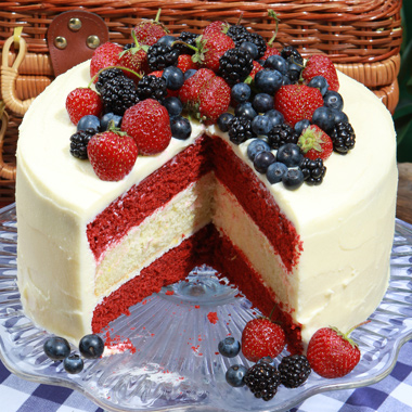 Glorious Red, White and Blue Cake