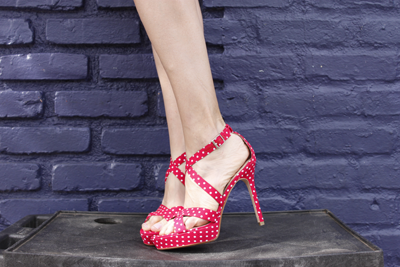 Red and White Polka Dots Milk and Honey Shoes