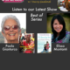 """Paola Gianturco with her book """"Grandmother Power,"""" and Elissa Montanti with """"I'll Stand by You"""" for Best Of TWE Radio Podcasts"""